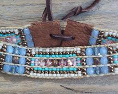 Cuentas tejidas pulseras pulseras suroeste por Adornments925