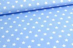 Baumwolle - Little Stars - Hellblau auf alles-fuer-selbermacher.de