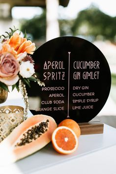 This Retro Glam Bougainvillea Estate Wedding was Inspired by Frank Sinatra and Desert Blooms 2019 Modern vintage-inspired bar signage at this summer reception Vintage Wedding Centerpieces, Diy Wedding Decorations, Tequila Sunrise, Bougainvillea, Cocktail Wedding Reception, Wedding Dj, Trendy Wedding, Summer Wedding, Vintage Inspiriert