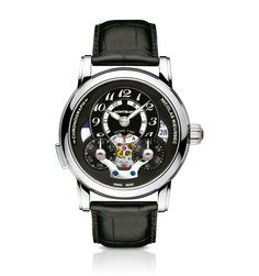 Mont Blanc Nicolas Rieussec Open Home Time Dream Watches, Fine Watches, Cool Watches, Men's Watches, Sport Watches, Audemars Piguet, Mont Blanc Watches, Authentic Watches, Skeleton Watches