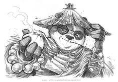 Kung Fu Panda 3 - fanart by Karafactory on DeviantArt Kung Fu Panda Desenho, Kung Fu Panda 3, Panda Sketch, Panda Drawing, Animal Sketches, Art Sketches, Spongebob Drawings, Dope Cartoons, Panda Art
