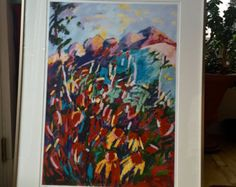 """LAST ONE, Large Framed Giclee Print""""Wildflowers, Colorado"""" $199. plus shipping."""