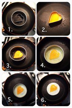 DIY Heart Shaped Eggs