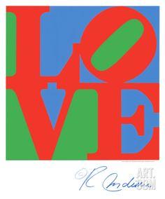 Classic Sky Love Serigraph by Robert Indiana at Art.com