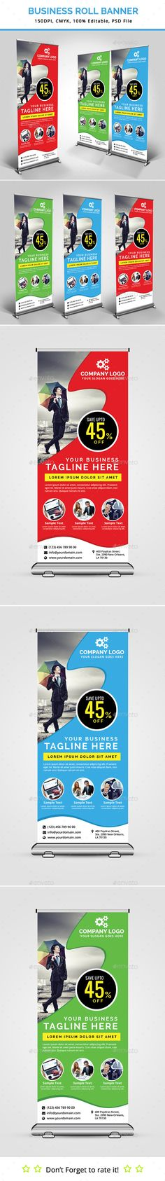 Business Roll Up Banner Template #design Download: http://graphicriver.net/item/business-roll-up-banner-v16/13091134?ref=ksioks
