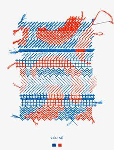 ELLE Magazine - Evelin Kasikov – CMYK embroidery and Typographic Design – London Typographic Design, Graphic Design Typography, Impression Textile, Textile Fiber Art, Textiles, Elle Magazine, Fabric Manipulation, Textile Design, Book Design