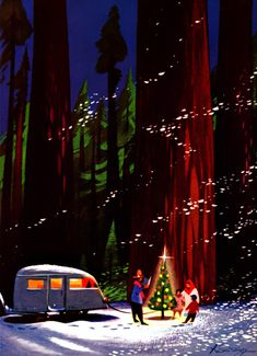 Plan59 :: Retro Vintage 1950s Christmas Ads and Holiday Art :: Christmas Campers, 1952