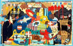 """Saatchi Art Artist Jonas Fisch; Painting, """"A tribe of hairy women"""" #art"""