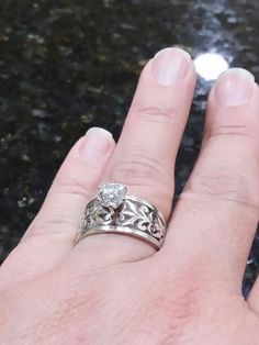 8 Best James avery wedding rings (3 1/2) thick band images | Halo