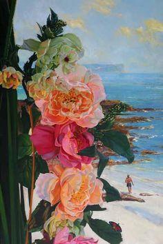 Balmoral Floral  92 x 61 cm - by international artist Robert Hagan - Australian