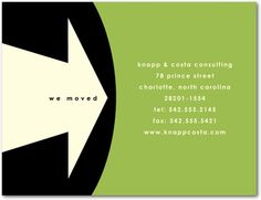 Modern Arrow - Business Moving Announcements in Meadow or Moonstruck | Hello Little One