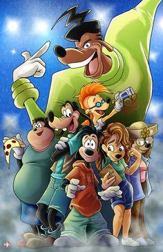 A Goofy movie Walt Disney, Goofy Disney, Disney Nerd, Disney Love, Disney Magic, A Goofy Movie, Dope Cartoon Art, Black Cartoon, Cartoon Movies