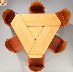 Table de Salle ? Manger et 6 chaises de Afra et Tobia Scarpa, ?dit? par Maxalto