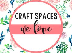 Loving these crafting spaces