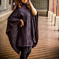 Sublime Purple from @NOVICA, They help #artisans succeed worldwide. http://clothing.novica.com/womens/alpaca-blend-reversible-poncho-sublime-purple/202459/