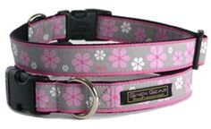 Valencia Pink/Grey Dog Collar