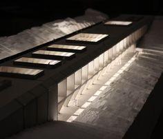 Thesis - Inhabited bridge. 1:100 card and white foam model. #DIT #architecturemodel #dublinschoolofarchitecture