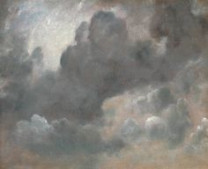 John Constable, 'Cloud Study' 1822. Oil paint on paper on board Dimensionssupport: 476 x 575 mm frame: 605 x 705 x 70 mm Collection Tate Acquisition Presented anonymously 1952.  On loan to Compton Verney House Trust (Compton Verney, UK)