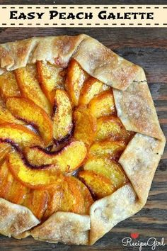 Easy Peach Galette recipe - RecipeGirl.com