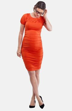 Isabella Oliver 'Allerton' Ruched Maternity Dress available at #Nordstrom