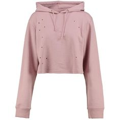 Boohoo Willow Distressed Washed Hoody ($26) ❤ liked on Polyvore featuring tops, hoodies, hooded sweatshirt, cotton hooded sweatshirt, cropped hoodies, distressed hoodie and jersey hoodie