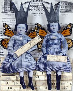 """""""We rule"""" by Stephanie Rubiano - Carefully selected by GORGONIA www. Mixed Media Journal, Mixed Media Collage, Paper Collage Art, Paper Art, Altered Books, Altered Art, Diorama, Assemblage Art, Artist Trading Cards"""
