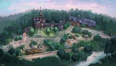 Concept artwork for Mystic Point at Hong Kong Disneyland