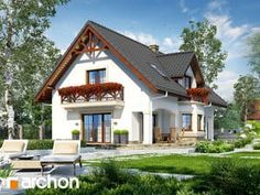 Dom w majeranku 2 (G) Home Fashion, House Plans, Cabin, Mansions, House Styles, Home Decor, Decoration Home, Manor Houses, Room Decor