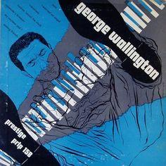 George Wallington Trio, label: Prestige PRLP 158 (1953) Design: Burt Goldblatt.