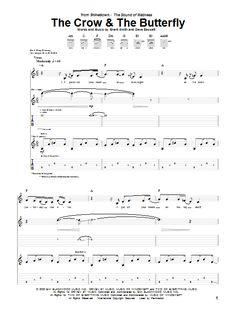 Shinedown The Crow Butterfly Sheet Notes S Printable Guitar Tab Sku 67958 - Butterfly Guitar Tabs Acoustic, Butterfly Music, Sheet Music Direct, Brent Smith, Preschool Songs, Hosting Company, Travel Bag, Crow, Guitars