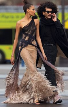 Cindy Bruna & Yassine Rahal by Hans Feurer for Vogue Arabia March 2017
