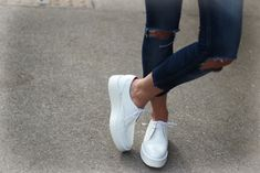 Zara platform shoes white