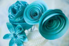 Six paper flowers