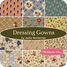 Dressing Gowns Fat Quarter Bundle Judie Rothermel for Marcus Brothers Fabrics