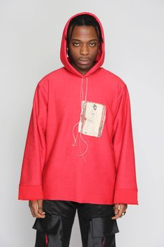 CHABA HOODIE Made In Uk, Family Portraits, Hooded Jacket, Hoodies, Model, Sweaters, Cotton, How To Wear, Jackets