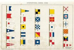 International signal code flags for nautical crafts