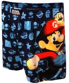 Nintendo Super Mario Navy Boxer Shorts