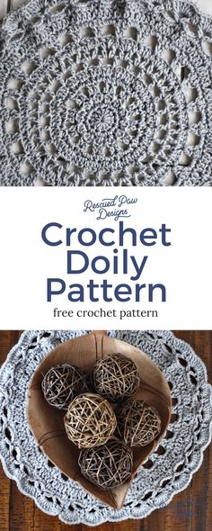 Free Crochet Doily Pattern by Rescued Paw Designs - Can even be used as a small crochet doily rug!