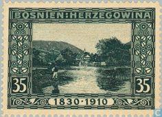 Stamps - Austria-Hungary (Bosnia and Herzegovina) - Jezero