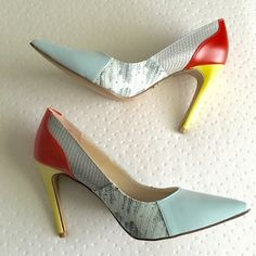 """multi-color heels. nwot Never worn, new without tags (does not come with box). Great colors. Size 7.5. ❌No trades or Paypal  Offers welcome through """"Make an Offer"""" feature. Quick shipping Rock & Republic Shoes Heels"""