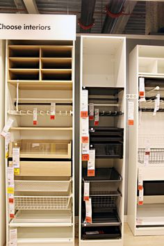 IHeart Organizing: IKEA Eye Candy: Storage Solutions Did you receive the new 2015 IKEA catalog in the mail recently? Kitchen Pantry Cabinet Ikea, Diy Kitchen Storage, Ikea Pantry Storage, Ikea Bedroom Storage, Ikea Storage Cabinets, Pantry Cabinets, Green Cabinets, Food Storage, Ikea Storage Solutions