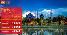Book cheap flights from London to Turkey with Dream World Travel.Find Cheap  Flight Deals on all major airlines.  #Cheap #Flights #To #Turkey #CheapFlights #To #Europe