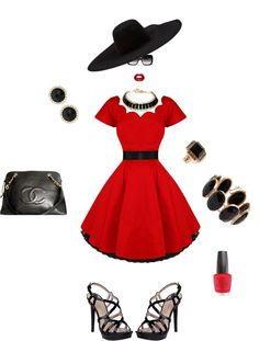 """Black & Red Sexy Hot!"" by mkac914 on Polyvore"