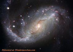 This NASA Hubble Space Telescope view of the nearby barred spiral galaxy NGC 1672 unveils details in the galaxy's star-forming clouds and dark bands of interstellar dust. NGC 1672 is more than 60 mill Cosmos, Interstellar, S4 Wallpaper, Galaxy Wallpaper, Black Wallpaper, Wallpaper Samsung, Computer Wallpaper, Nature Wallpaper, Ciel Nocturne