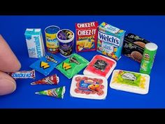 DIY Miniature food for doll Barbie | DollHouse | No Polymer Clay! - YouTube