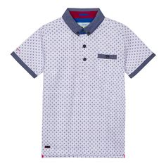 A smart twist on a casual favourite, this polo shirt from the Baker by Ted Baker children's range will slot seamlessly into his daily rotation. Designed with a contrasting chambray collar and trims, it is finished with a mock pocket on the chest.