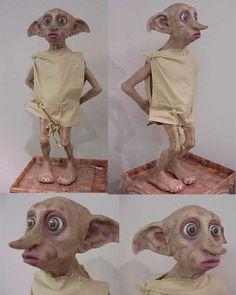 Dobby by darkwax Harry Potter Treats, Cumpleaños Harry Potter, Fairy Art, Stop Motion, Fantasy World, Hogwarts, Art Dolls, Sculpting, Cute Animals