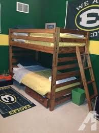 Durango bunk beds I put a set on two walls meeting at