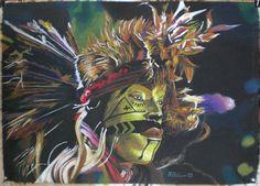 Danzatore Isiga, oil pastel on paper, 2009