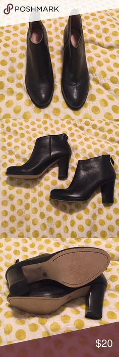 Lands' End Leather Booties- size 9 Great condition! I have only worn these a few times. Leather is soft and beautiful- the zippers are a little hard to zip. Fit true to size. Beautiful boots for fall! Lands' End Shoes Ankle Boots & Booties